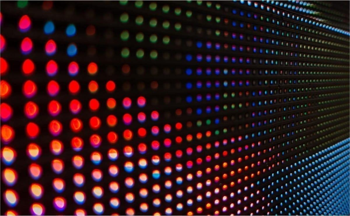 Closeup DIP LED