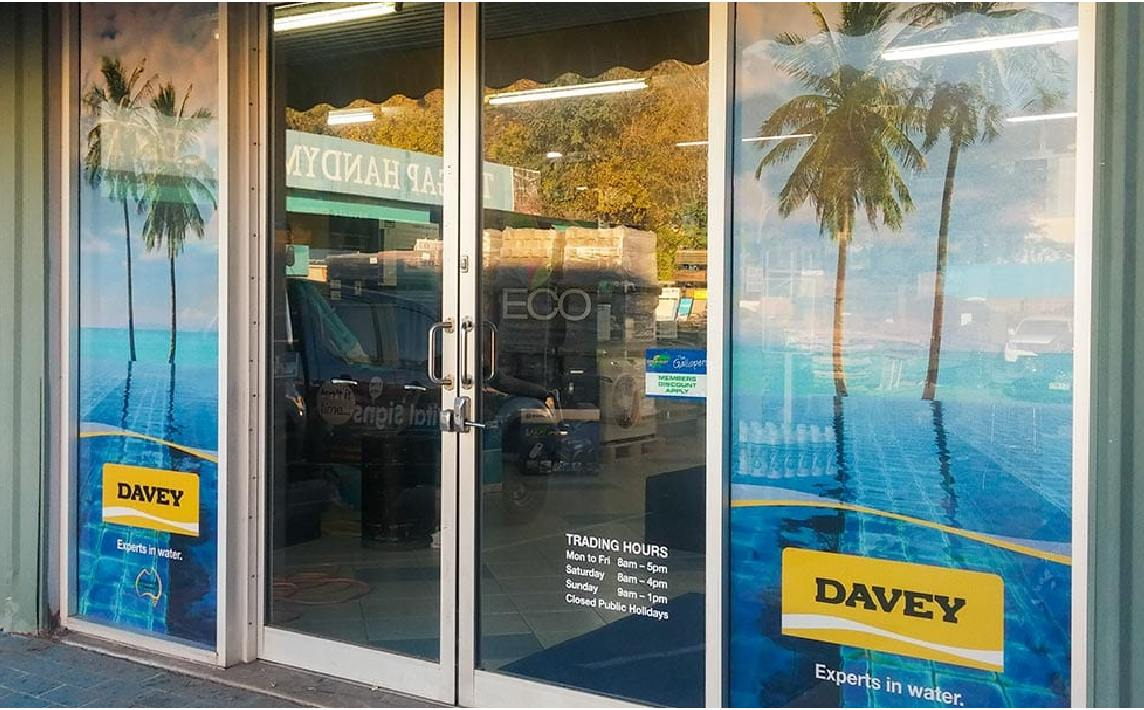 Shop front window film